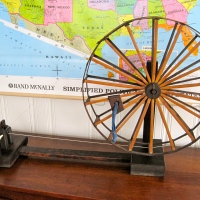 Antique Japanese Spinning Wheel